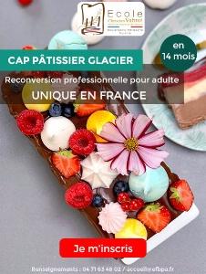 Formation unique en France: Un CAP Pâtissier-Glacier au sein de l'Ecole Christian Vabret
